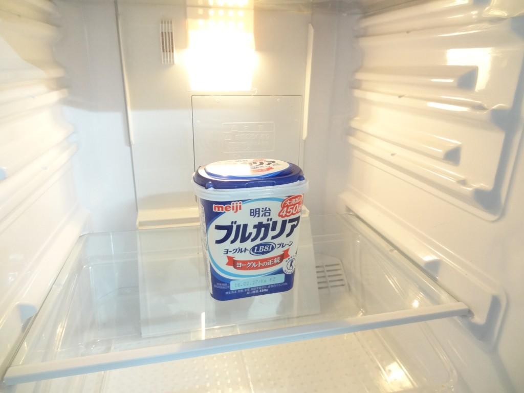 ドライバナナヨーグルト 冷蔵庫一晩置く