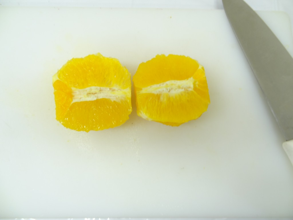 オレンジ カット フルーツレザー作り