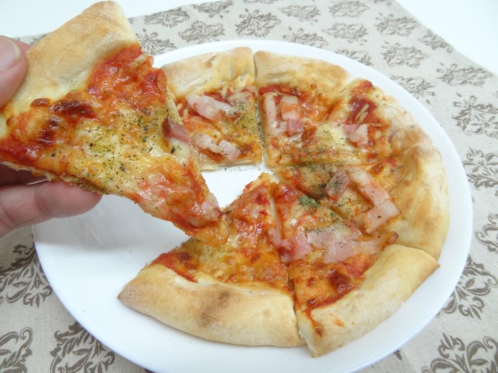 ピザにハーブソルト