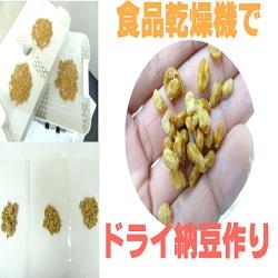 [ドライ納豆の作り方]食品乾燥機で簡単自家製干し納豆