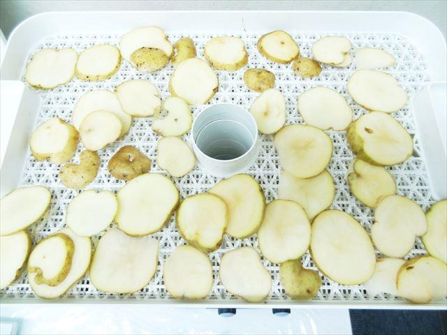 野菜乾燥機でジャガイモの乾燥