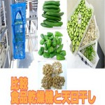 [干し野菜作り] きゅうり、ピーマン、ぶなしめじを野菜乾燥機と天日干しで比較テスト
