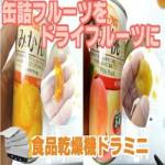 [みかんと桃をドライフルーツに!]ドライフルーツを作る乾燥機械