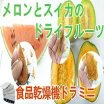 [メロンとスイカ]食品乾燥機でドライフルーツ作り!